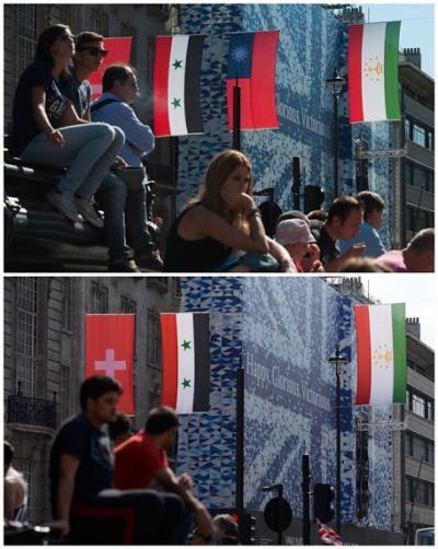 英國倫敦奧運,台灣國旗事件