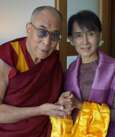歷史性的會面-達賴喇嘛與翁山蘇姬